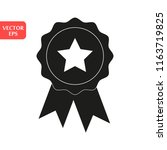 star award icon. simple... | Shutterstock .eps vector #1163719825