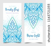 beauty flow. yoga card  flyer ... | Shutterstock .eps vector #1163721355