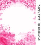 pink floral background with... | Shutterstock .eps vector #116373292
