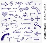 set of arrows vector... | Shutterstock .eps vector #1163747215