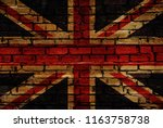 uk flag bricks wall | Shutterstock . vector #1163758738