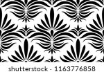 black and white seamless floral ... | Shutterstock .eps vector #1163776858