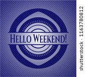 hello weekend  jean background | Shutterstock .eps vector #1163780812