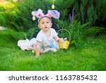 funny infant baby boy in fancy... | Shutterstock . vector #1163785432