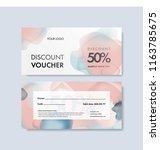 discount voucher template with... | Shutterstock .eps vector #1163785675