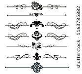 decorative monograms and... | Shutterstock .eps vector #1163785882