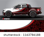 truck and car graphic vector.... | Shutterstock .eps vector #1163786188