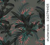 seamless pattern with tropical... | Shutterstock .eps vector #1163794405