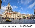 prague  czech republic  ... | Shutterstock . vector #1163802445