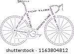 road bike made of text font | Shutterstock .eps vector #1163804812