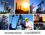 workers in an oilfield  split... | Shutterstock . vector #116380855