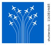 airplane flying formation in...   Shutterstock .eps vector #1163814685
