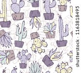 cartoon seamless pattern with... | Shutterstock .eps vector #1163818495