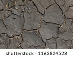 dry cracked mud | Shutterstock . vector #1163824528