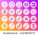 needlework icon set. web sign... | Shutterstock .eps vector #1163829472
