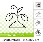 sprout thin line icon. outline... | Shutterstock .eps vector #1163829475