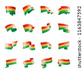 bolivia flag  vector... | Shutterstock .eps vector #1163847592