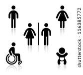 toilet black set pictogram | Shutterstock .eps vector #116385772