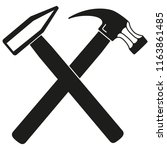 black and white tow crossed...   Shutterstock . vector #1163861485