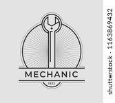 auto mechanic service. mechanic ... | Shutterstock .eps vector #1163869432