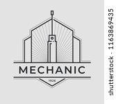 auto mechanic service. mechanic ... | Shutterstock .eps vector #1163869435