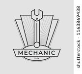 auto mechanic service. mechanic ... | Shutterstock .eps vector #1163869438