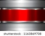 metallic background silver red  ... | Shutterstock .eps vector #1163869708