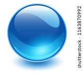 glass sphere blue  vector shiny ... | Shutterstock .eps vector #1163870992