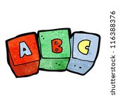 cartoon letter blocks abc