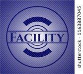 facility jean or denim emblem... | Shutterstock .eps vector #1163887045