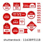 vector isolated set of price... | Shutterstock .eps vector #1163895118