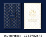 blue and gold background... | Shutterstock .eps vector #1163902648