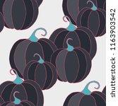 halloween background with... | Shutterstock .eps vector #1163903542