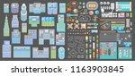 vector set of landscape... | Shutterstock .eps vector #1163903845