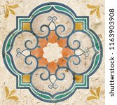 tiles floor illustration... | Shutterstock . vector #1163903908