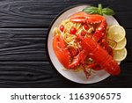 expensive spaghetti and cooked... | Shutterstock . vector #1163906575