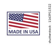 made in usa logo on a white... | Shutterstock .eps vector #1163911522