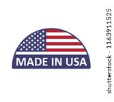 made in usa icon on a white... | Shutterstock .eps vector #1163911525