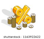 percentage rate income profit... | Shutterstock .eps vector #1163922622