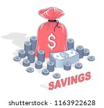 personal savings concept  money ... | Shutterstock .eps vector #1163922628
