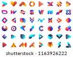 modern minimal vector logo for... | Shutterstock .eps vector #1163926222