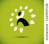 vector illustration of happy...   Shutterstock .eps vector #1163929138