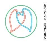 two hearts unite in infinity... | Shutterstock .eps vector #1163930935