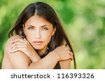 portrait of young beautiful... | Shutterstock . vector #116393326