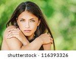 portrait of young beautiful... | Shutterstock . vector #116393326