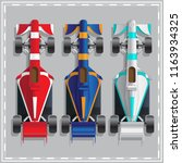 set of racing cars. view from... | Shutterstock .eps vector #1163934325