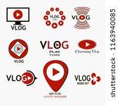 vlog logo icon set. youtube set ...