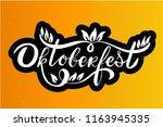 oktoberfest logotype. beer...   Shutterstock .eps vector #1163945335
