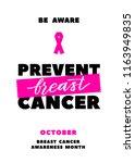 prevent breast cancer.... | Shutterstock .eps vector #1163949835