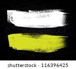 abstract vector brush stroke on ... | Shutterstock .eps vector #116396425